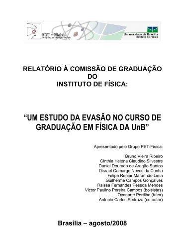 """""""UM ESTUDO DA EVASÃO NO CURSO DE GRADUAÇÃO EM ..."""