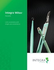 Disposables Brochure - Integra Miltex