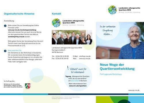 """Flyer """"Neue Wege der Quartiersentwicklung"""" - aq-nrw.de"""