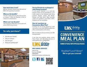 convenience meal plan - DineOnCampus.com