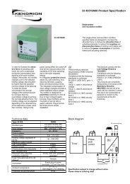 DC AC 33 43310A00 Product Specification - Kendrion