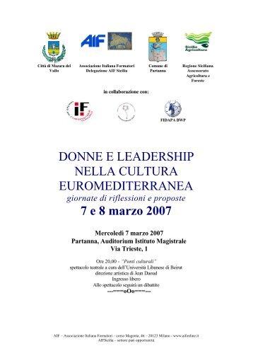 Donne e leadership nella cultura euromediterranea - Rete Pari ...