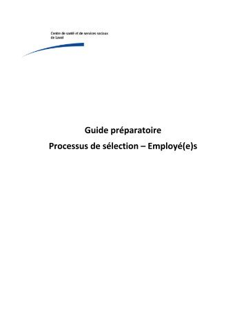 guide on the selection of employees Operational guide for animal care and control agencies: personnel selection and management schedule regular staff meetings and/or quality circles recognition.