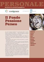 Il Fondo Pensione Perseo - Anci Toscana
