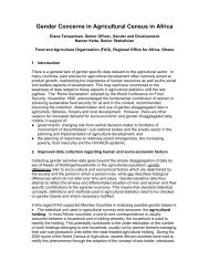 Gender Concerns in Agricultural Census in Africa - National ...