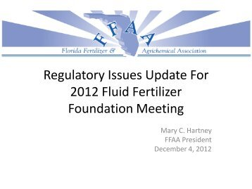 M. Hartney - Fluid Fertilizer Foundation
