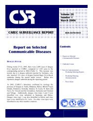 CAREC Surveillance Report March 2006 - PAHO/WHO