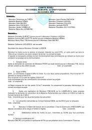Conseil municipal du 6 octobre 2010 - Saint-Fuscien
