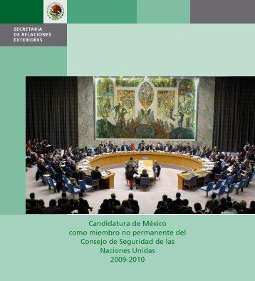 Candidatura de México como miembro no permanente del Consejo ...