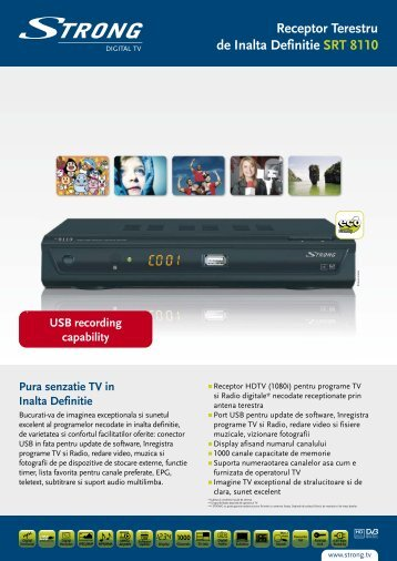 Receptor Terestru de Inalta Definitie SRT 8110 - STRONG Digital TV