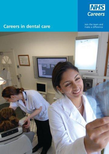 Careers in dental care - NHS Careers