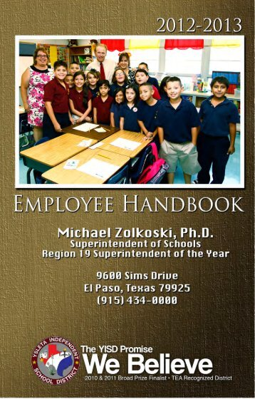 YISD Employee Handbook - Ysleta Independent School District ...