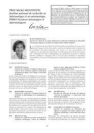Prix Montpetit Inria : lauréats - Prix de l'Académie des sciences