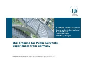 ICC-Training for Public Servants – Experiences from ... - e-SPICES