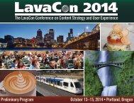 LavaCon2014PreliminaryProgram