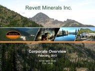 Revett Minerals Inc. - GOLDINVEST.de