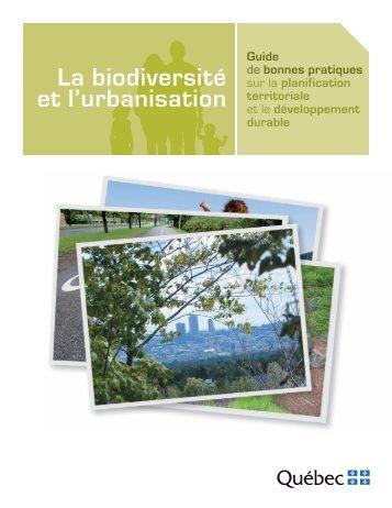 La biodiversité et l'urbanisation - Affaires municipales, régions et ...