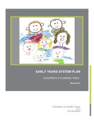 planning process - Social Services