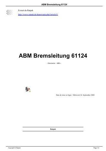 ABM Bremsleitung 61124 - Ratpak