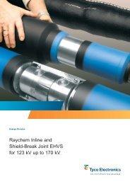 Raychem Inline and Shield-Break Joint EHVS for 123 kV up to 170 kV