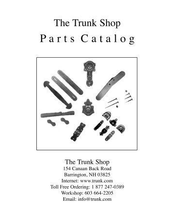Downloadable and Printable Parts Catalog - The Trunk Shop