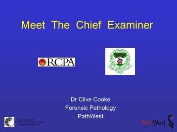Meet The Chief Examiner - RCPA