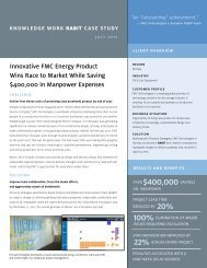 Innovative FMC Energy Product Wins Race to Market While Saving ...