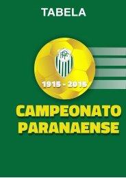 Tabela Campeonato Paranaense 2015 - Capa