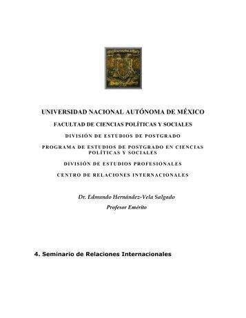 4. Seminario de Relaciones Internacionales - Páginas Personales ...