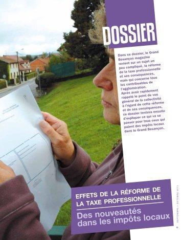 Effets de la réforme de la taxe professionnelle - Besançon