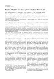 Parasites of the Mink Frog (Rana septentrionalis) from ... - BioOne