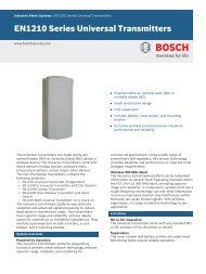 EN1210 Series Universal Transmitters - Bosch Security Systems