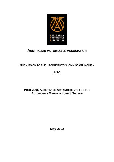 May 2002 - Australian Automobile Association