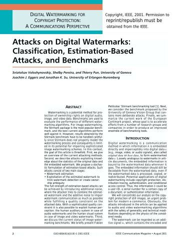 thesis on audio watermarking Chapter 2 watermark theory a watermark is a digital code permanently embedded into a cover content, in caseof this thesis, intoa videosequence a watermark can carry any information you can imagine but the amount of.