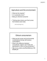 Food Production - College of Agriculture, Biotechnology and Natural ...