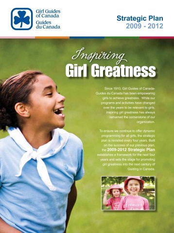 2009-2012 Strategic Plan - Girl Guides of Canada.