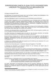 europäischen charta zu qualitativ hochwertigen ... - Euromontana