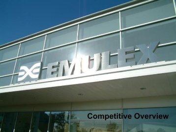 Competitive Presentation Thermal - Emulex