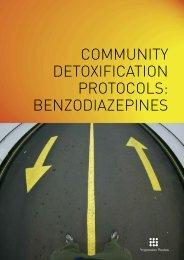 community detoxification protocols: benzodiazepines - Drugs.ie