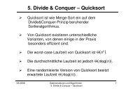 5. Divide & Conquer – Quicksort