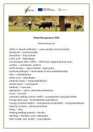 Maitotilan sanakirja - ProAgria Oulu