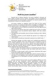 Profil du Jeune Lasallien - La Salle.org