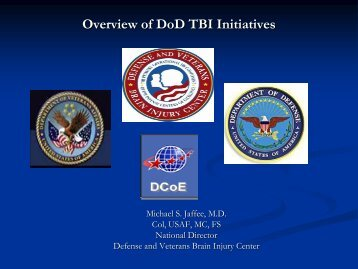 Overview of DoD TBI Initiatives - CERMUSA