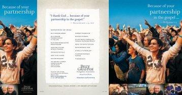 partnership partnership - Billy Graham Evangelistic Association