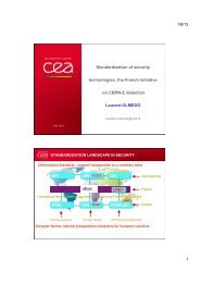 Standardization of security technologies: the French initiative ... - IPSC