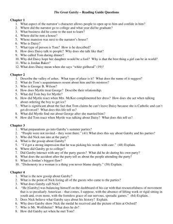 Gatsby questions (pdf)