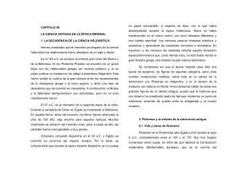 CAPÍTULO XII LA CIENCIA ANTIGUA EN LA ÉPOCA IMPERIAL 1 ...