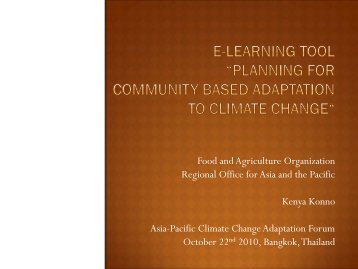 FAO - Asia Pacific Adaptation Network