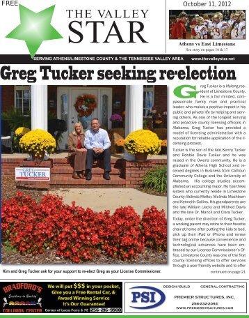 Greg Tucker seeking re-election - Thevalleystar.net