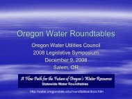 Oregon Water Roundtables
